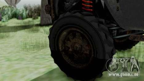 GTA 5 Karin Rebel 4x4 Worn IVF für GTA San Andreas zurück linke Ansicht