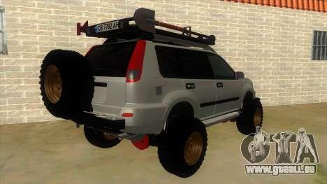 Nissan X-Trail 4x4 Dirty by Greedy für GTA San Andreas rechten Ansicht