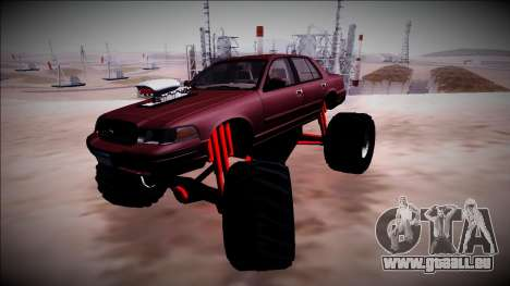 2003 Ford Crown Victoria Monster Truck pour GTA San Andreas salon