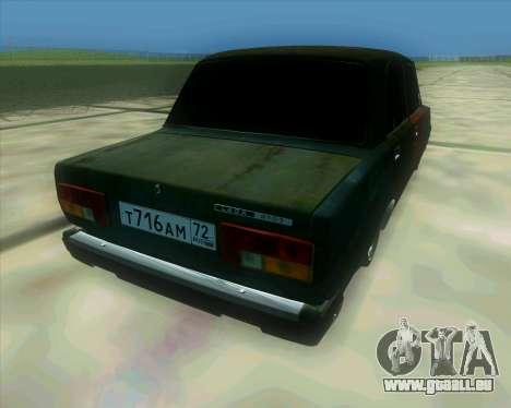 VAZ 2107 Hobo pour GTA San Andreas laissé vue