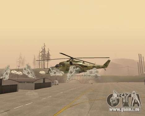 Un Mi-24 Au Crocodile pour GTA San Andreas vue intérieure