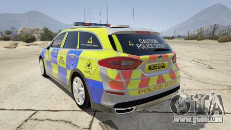 GTA 5 2014 Police Ford Mondeo Dog Section hinten links Seitenansicht