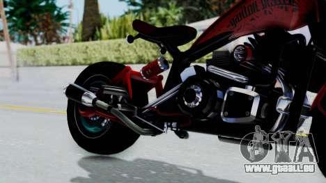Turbike 3.0 pour GTA San Andreas vue de droite