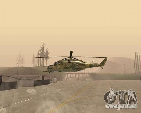 Un Mi-24 Au Crocodile pour GTA San Andreas laissé vue