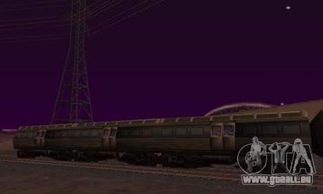 Batman Begins Monorail Train Vagon v1 pour GTA San Andreas laissé vue