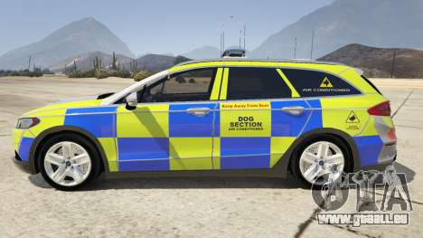 2014 Police Ford Mondeo Dog Section für GTA 5