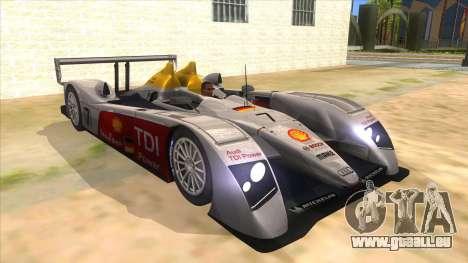 Audi R10 pour GTA San Andreas vue arrière