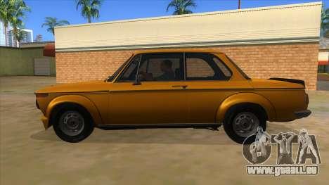 1974 BMW 2002 turbo v1.1 für GTA San Andreas linke Ansicht