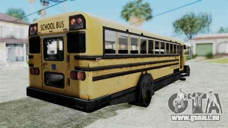 Armored School Bus für GTA San Andreas linke Ansicht