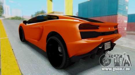 GTA 5 Pegassi Vacca IVF pour GTA San Andreas sur la vue arrière gauche