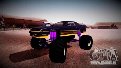 GTA 5 Imponte Ruiner Monster Truck für GTA San Andreas Innenansicht