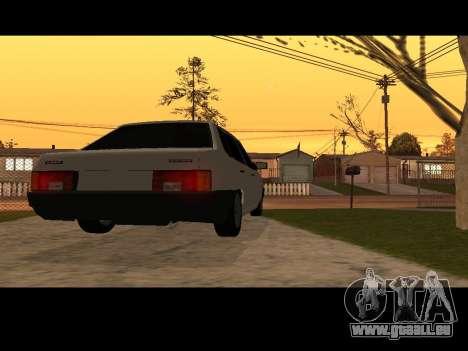 VAZ 21099 Voiture Sans épuisette pour GTA San Andreas sur la vue arrière gauche