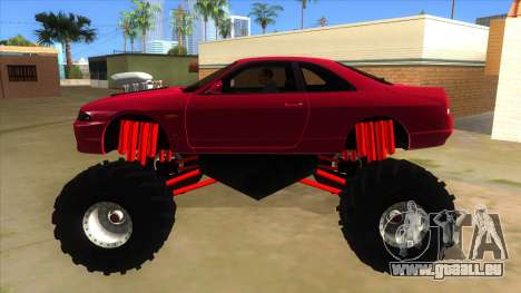 Nissan Skyline R33 Monster Truck für GTA San Andreas linke Ansicht