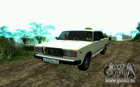 VAZ 2107-Taxi für GTA San Andreas