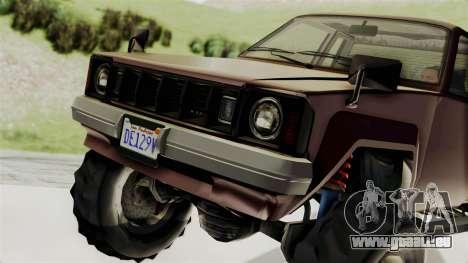 GTA 5 Karin Technical Cleaner IVF pour GTA San Andreas vue de droite