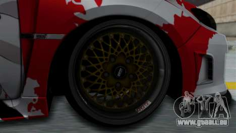 Subaru Impreza WRX STI 2010 Itasha Asuna (SAO) pour GTA San Andreas sur la vue arrière gauche