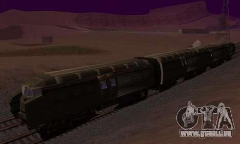 Batman Begins Monorail Train Vagon v1 pour GTA San Andreas sur la vue arrière gauche