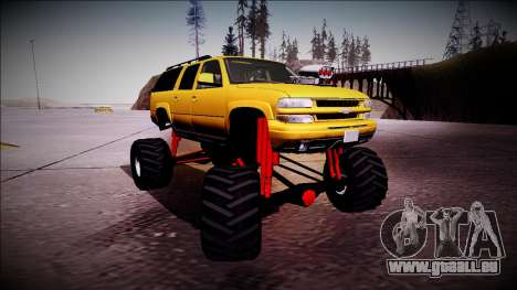 2003 Chevrolet Suburban Monster Truck für GTA San Andreas linke Ansicht