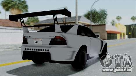 GTA 5 Karin Sultan RS Drift Double Spoiler PJ pour GTA San Andreas laissé vue