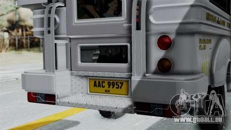 Jeepney Philippines pour GTA San Andreas vue intérieure