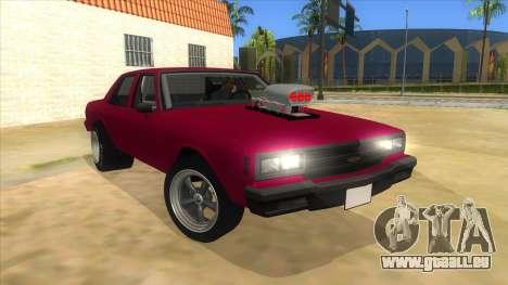 1984 Chevrolet Impala Drag pour GTA San Andreas vue arrière