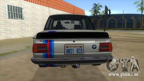1974 BMW 2002 turbo v1.1 für GTA San Andreas Unteransicht