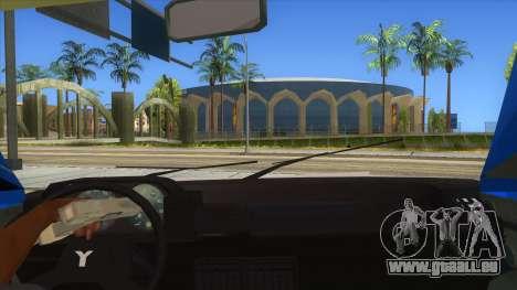 Yugo Koral Police pour GTA San Andreas vue intérieure