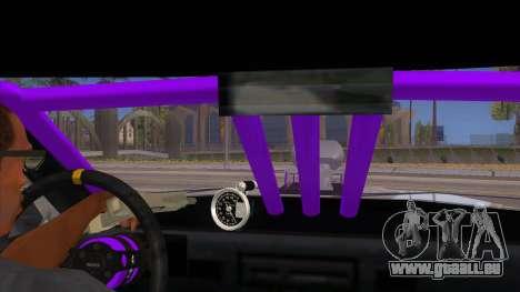 Stretch Sedan Drag pour GTA San Andreas vue intérieure