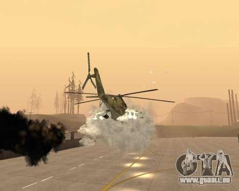 Un Mi-24 Au Crocodile pour GTA San Andreas vue de dessous