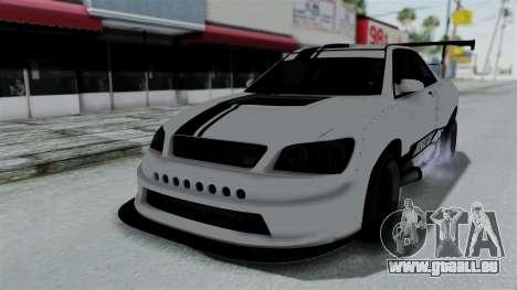 GTA 5 Karin Sultan RS Drift Double Spoiler PJ pour GTA San Andreas vue de dessus