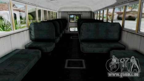 Armored School Bus pour GTA San Andreas vue de droite
