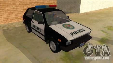 Yugo GV Police pour GTA San Andreas vue arrière