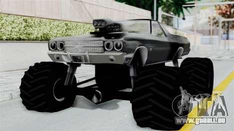 Chevrolet El Camino SS 1970 Monster Truck pour GTA San Andreas