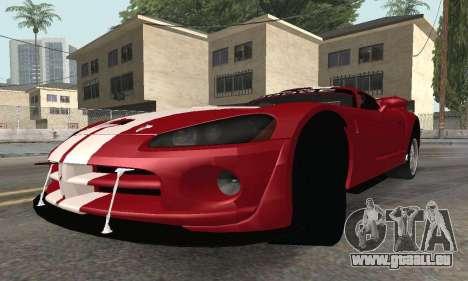 Dodge Viper Competition Coupe pour GTA San Andreas vue de droite