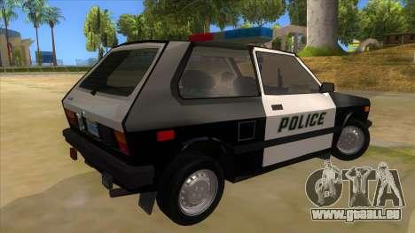 Yugo GV Police pour GTA San Andreas vue de droite