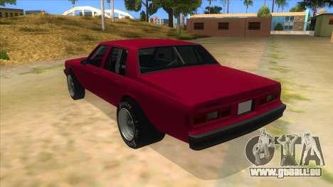 1984 Chevrolet Impala Drag für GTA San Andreas zurück linke Ansicht