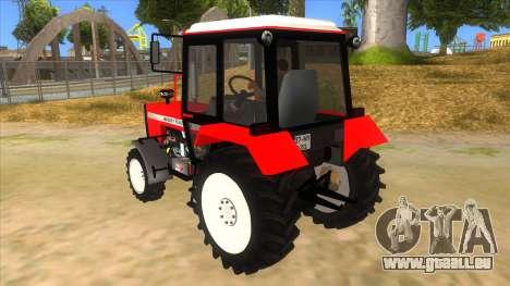 Massley Ferguson Tractor pour GTA San Andreas sur la vue arrière gauche