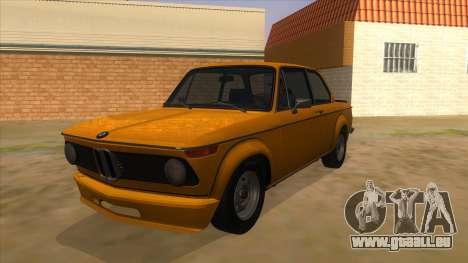 1974 BMW 2002 turbo v1.1 pour GTA San Andreas