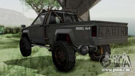 GTA 5 Karin Rebel 4x4 Worn IVF für GTA San Andreas linke Ansicht