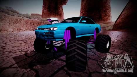Nissan Silvia S14 Monster Truck für GTA San Andreas Unteransicht