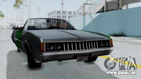 Clover Cabrio für GTA San Andreas zurück linke Ansicht