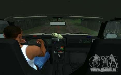 VAZ 2107-Taxi für GTA San Andreas zurück linke Ansicht