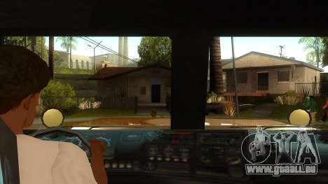 GTA V HVY Barracks Semi pour GTA San Andreas vue intérieure