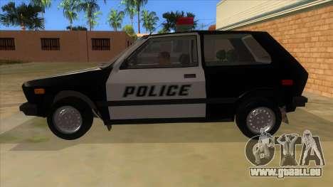 Yugo GV Police pour GTA San Andreas laissé vue