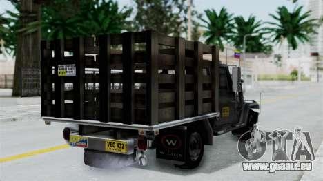 Jeep con Estacas Stylo Colombia pour GTA San Andreas laissé vue