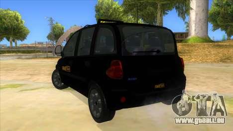 Fiat Multipla FAKETAXI pour GTA San Andreas sur la vue arrière gauche