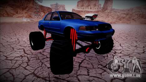 2003 Ford Crown Victoria Monster Truck pour GTA San Andreas moteur