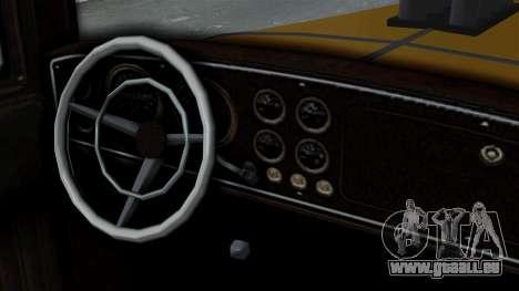 GTA 5 Albany Roosevelt Valor IVF pour GTA San Andreas sur la vue arrière gauche