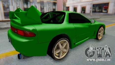 Mitsubishi GT3000 FnF für GTA San Andreas zurück linke Ansicht