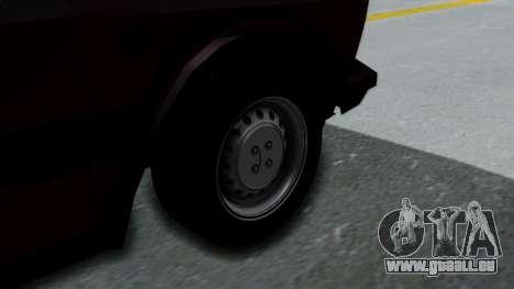 Yugo Koral 55 pour GTA San Andreas sur la vue arrière gauche